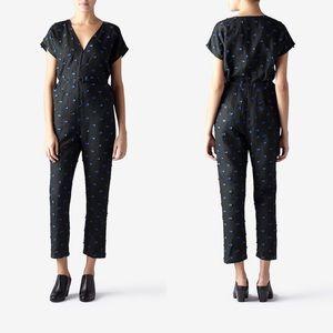Rachel Comey | Glinda Jumpsuit Linen Black/Blue 4